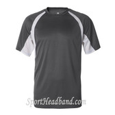 Short-Sleeve 2-Tone Performance Tee - Graphite / White