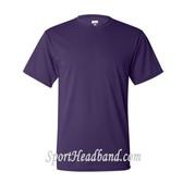 Augusta Sportswear Purple 100% Poly Moisture Wicking T-Shirt