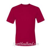 Men's Short Sleeve Cool Dri UPF 50+ Performance T-Shirt - Red