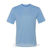 Men's Short Sleeve Cool Dri UPF Performance T-Shirt - Light Blue
