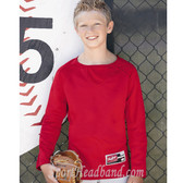 Rawlings Youth Long Sleeve Flatback Mesh Fleece Pullover