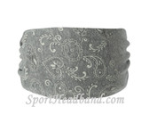 Grey Bandana Polyester Wider Headband Head Wrap(1 Piece)
