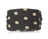 White Polka Dot Polyester Wider Headband Head Wrap(1 Piece)