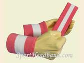 Bright Pink White 2 Colored Sports sweat headband wristbands Set
