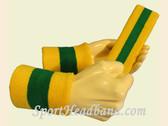 Yellow Green Yellow sports sweat headband wristbands Set