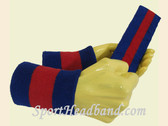 Blue Red Blue sports sweat headband wristbands Set