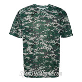 B-Core Mens T-Shirt Uniform Jersey Dri Fit Forest Digital Camo