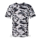 Sport Adult Unisex Short Sleeve Camo Tee Shirt - White