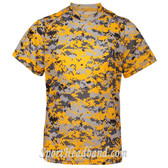 Youth Short Sleeve Sublimated Digital Performance T-Shirt- Gold