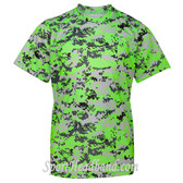 Youth Short Sleeve Sublimated Digital Performance T-Shirt - Lime