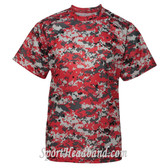Youth Short Sleeve Sublimated Digital Performance T-Shirt- Red