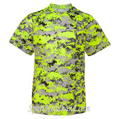 Youth Short Sleeve Digital Performance Tee - Safety Yellow