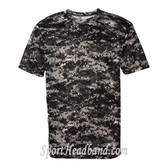B-Core Mens T-Shirt Uniform Jersey Dri Fit Black Digital Camo