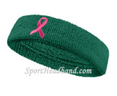 Teal and Pink Ribbon Symbol Sports Headband for support Ovarian Cancer