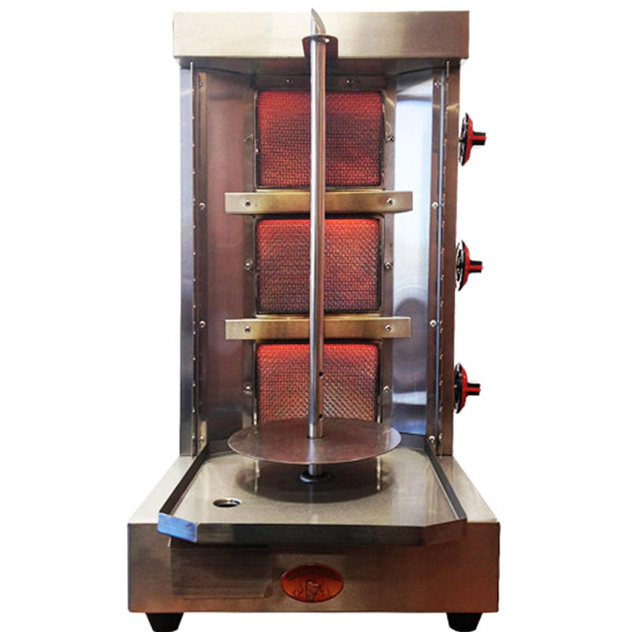 shawarma machine vertical broiler 3 burners sg2