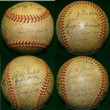 1947 New York Yankees Team Signed Autograph Baseball w/Joe DiMaggio, Phil Rizutto, Yogi Berra JSA