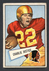 1952 Bowman Small Football # 018  Charlie Justice Washington Redskins VG