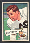 1952 Bowman Small Football # 050  John Sandusky Cleveland Browns EX