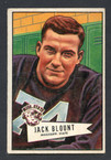 1952 Bowman Small Football # 080  Jack Blount Philadelphia Eagles EX