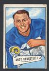1952 Bowman Small Football # 085  Andy Robustelli Los Angeles Rams G-1