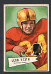 1952 Bowman Small Football # 091  Leon Heath Washington Redskins EX