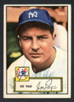 1952 Topps Baseball # 048c Joe Page Red Back New York Yankees EX-2