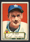 1952 Topps Baseball # 060 Sid Hudson Washington Senators EX-2