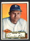 1952 Topps Baseball # 066a Preacher Roe Black Back Brooklyn Dodgers EX