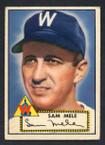 1952 Topps Baseball # 094 Sam Mele Washington Senators VG-1