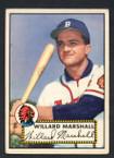 1952 Topps Baseball # 096 Willard Marshall Boston Braves VG-2