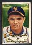 1952 Topps Baseball # 101 Max Lanier New York Giants VG