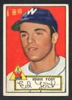 1952 Topps Baseball # 123 Eddie Yost Washington Senators VG-1