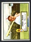 1952 Topps Baseball # 160 Owen Friend St. Louis Browns VG-1