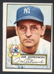 1952 Topps Baseball # 206 Joe Ostrowski New York Yankees VG-2