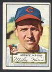 1952 Topps Baseball # 207 Mickey Harris Cleveland Indians VG-1