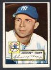 1952 Topps Baseball # 214 Johnny Hopp New York Yankees EX