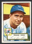 1952 Topps Baseball # 248 Frank Shea Washington Senators EX