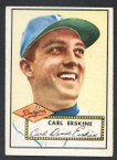 1952 Topps Baseball # 250 Carl Erskine Brooklyn Dodgers EX
