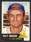 1953 Topps Baseball # 021  Billy Johnson St. Louis Cardinals EX