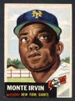 1953 Topps Baseball # 062  Monte Irvin New York Giants EX/MT