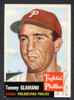 1953 Topps Baseball # 140  Tommy Glaviano Philadelphia Phillies EX/MT