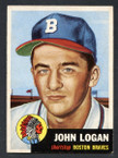 1953 Topps Baseball # 158  John Logan Milwaukee Braves EX/MT-1