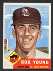 1953 Topps Baseball # 160  Bob Young St. Louis Browns EX/MT