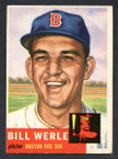 1953 Topps Baseball # 170  Bill Werle Boston Red Sox EX