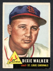 1953 Topps Baseball # 190  Dixie Walker St. Louis Cardinals EX/MT