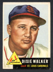 1953 Topps Baseball # 190  Dixie Walker St. Louis Cardinals EX