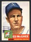 1953 Topps Baseball # 195  Ed McGhee Philadelphia Athletics EX/MT-2
