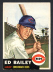 1953 Topps Baseball # 206  Ed Bailey Cincinnati Reds EX