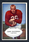 1953 Bowman Football # 045  John Olszewski Chicago Cardinals EX