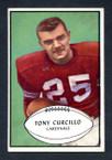 1953 Bowman Football # 061  Tony Curcillo Chicago Cardinals EX